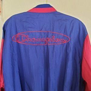 Champion Vintage Bomber Windbreaker Jacket Large